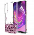 ETUI BROKAT DO SAMSUNG A50 LIQUID CASE+SZKŁO