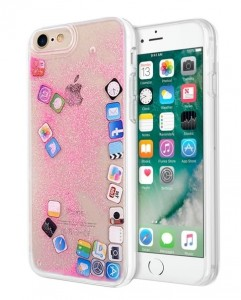 Etui Brokat Apple Icon Liquid Case iPhone 7/8